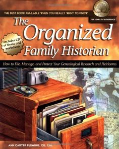 The Organized Family Historian: How to File, Manage, and Protect Your Genealogical Research and Heirlooms (National Genealogical Society Guides) by Ann Carter Fleming, http://www.amazon.com/dp/1401601294/ref=cm_sw_r_pi_dp_Tb3cqb1ZA4PG1