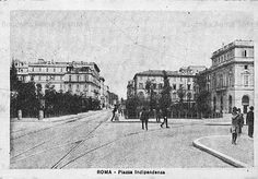 Piazza Indipendenza Anno: cartolina viaggiata nel 1932 Best Cities In Europe, Old Photos, Rome, Street View, Statue, History, World, Antique, Vintage