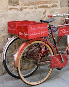 Red Bicycle  France  Photography Fine Art by helenaphotography, £18.00