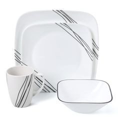 Features:  -Simple Sketch collection.  -Stackability for cupboard space efficiency.  -Break and chip resistance for carefree durability .  -Patterns won't wash, wear or scratch off .  -Microwave and o