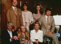 JR, Sue Ellen, Pam and Bobby.             Jock, Lucy and Miss Ellie