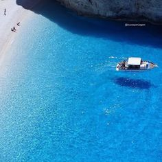Bluest blue  Zakynthos - Greece. Picture by @Loucosporviagem Good morning world  by wonderful_places