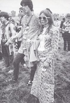 Hippies at a pop festival, 1967. Photo by John Topham.