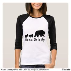 Mama Grizzly Bear and Cubs T-Shirt