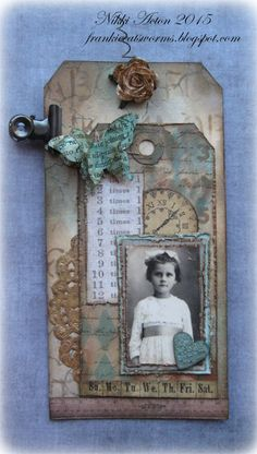 Addicted to Art: Use a Portrait at A Vintage Journey {{kp--different layering}}