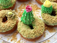 DIY Cactus Donuts for National Donut Day   Made + Remade