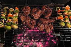 """The South African """"braai"""" (barbecue) is a way of life and a culinary experience unequalled in the world - Delicious food in South Africa, South African food guide Braai Recipes, Barbecue Recipes, Bbq, South African Braai, Shrimp On The Barbie, South Africa Tours, South African Recipes, Lamb Chops, Beaches In The World"""