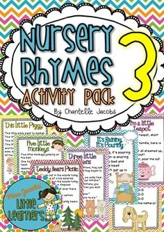 Nursery Rhymes 3 Pack: Created by Miss Jacobs' Little Learners.