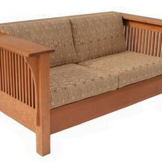 Prairie Settle Cherry With Spindles By Brian Brace Mission Furniture Craftsman Fine