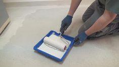 Walze mit 9 mm Floor gut einweichen lassen
