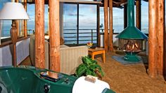 Timber Cove Inn in Jenner, CA on the Sonoma coast.  Amazing views of the Pacific.  This is an upstairs room inside the lodge - Greg & I stayed here in 2001 ;)