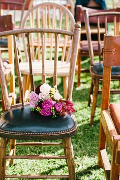 Timber Mismatch Chairs - For Hire at The Wedding Shed for your #ByronBay #Wedding