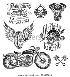 Hand Painted Motorcycle Elements