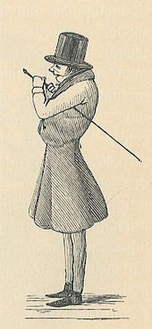 A caricature of Kierkegaard published in The Corsair, a satirical journal