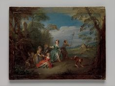 Jean-Baptiste Joseph Pater - The Golden Age - Oil on wood - Courtesy The Metropolitan Museum of Art New York Indianapolis Museum, Cleveland Museum Of Art, Museum Of Fine Arts, Art Museum, European Paintings, Canvas Paper, Canvas Prints, Art Prints