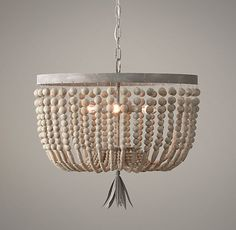 Always love using a good kid's room item in my big kid house - Pretty beaded chandelier from RH Baby and Kids