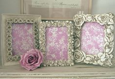 rose picture frames by the rose shack | notonthehighstreet.com