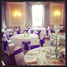 Purple and white reception