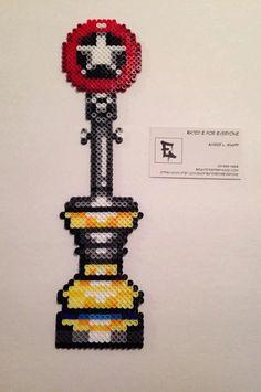Sonic Star Post Perler Bead Sprite by RatedEforEveryone