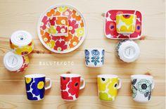 Flower Power #mug #red #marimekko 17,00€ in our shop https://www.goodshaus.com/MARIMEKKO-Mug-25DL-Oiva-Unikko-Weiss-Rot