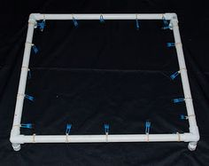 PVC pipe frame for silk painting