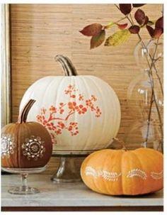 Pretty and elegant pumpkin decorating