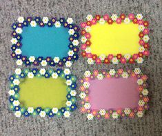 アイロンビーズ 六角Lプレート 結合 L版用 花のフォトフレーム 色々