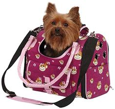East Side Collection Polyester/Cotton Monkey Business Pet Carrier, Small, Tiff *** Review more details here : Cat carrier