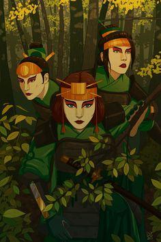 The Kyoshi Warriors from Avatar: the Last Airbender Avatar Aang, Suki Avatar, Avatar The Last Airbender Art, Team Avatar, Zuko, Kyoshi Warrior, Avatar Cosplay, Avatar Series, Korrasami