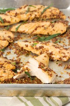 Mustard Baked Chicken Tenders – Super simple and deliciously spicy chicken recipe. The mustard sauce is perfect over rice or a salad. Spicy Chicken Recipes, Chicken Recipes Video, Diabetic Chicken Recipes, Recipe Chicken, Keto Recipes, Low Carb Dinner Recipes, Healthy Dinner Recipes, Lunch Recipes, Food Trucks