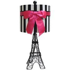 paris themed girls room | Girls Paris Theme Teen Room Dorm Decor Lamp light Eiffel Tower party ...