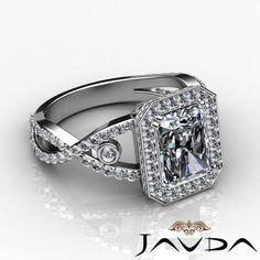 Emerald Cut Diamond Stunning Engagement Ring GIA F SI1 14k White Gold 2 5 Ct   eBay