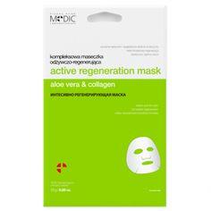 ACTIVE REGENERATION MASK  aloe vera & collagen  EFEKT:  Natychmiastowa regeneracja Wyraźnie spłycone i wygładzone drobne zmarszczki Elastyczna i jędrna skóra    Paraben Free  25g / 0.88 oz.
