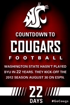 Countdown to Cougars Football - 22 Days #GoCougs |Pinned from PinTo for iPad|