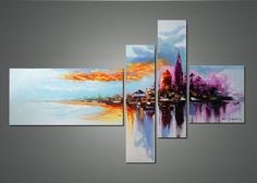 Modern Cityscape Wall Art - Cityscape Abstract Art and Cityscape Oil Paintings…