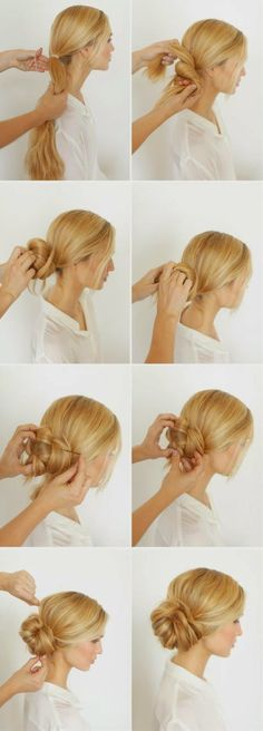 How to Chic: Knotted bun tutorial… So cute for work or play!