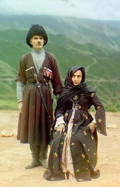 Traditional costumes of Lezgins. The Lezgians (also called Lezgins, Lezgi, Lezgis, Lezgs, Lezgin) are a Lezgic ethnic group native predominantly in Lezgia (located in southern Dagestan and northeastern Azerbaijan) and who speak the Lezgian language. Systema Martial Art, Set Design Theatre, Russian Culture, Historical Clothing, Folk Clothing, Group Costumes, Russian Fashion, Married Woman, Traditional Dresses