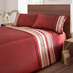 Debenhams Red 'Mahdia' bed linen- at Debenhams.com