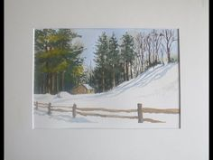 """ In the Depth of Winter "" Watercolour Snow Scene. - YouTube Watercolour Tutorials, Watercolor Artists, Watercolor Landscape, Watercolor Paintings, Snow Scenes, Winter Scenes, Winter Painting, Nature Paintings, Winter Snow"