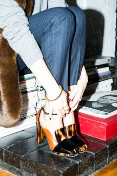 """""""Heels, heels, heels. You can't change a look with anything like with a pair of heels."""" www.thecoveteur.com/giorgia-tordini"""