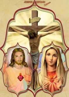 Jesus And Mary Pictures, Pictures Of Jesus Christ, Jesus Mother, Blessed Mother Mary, Catholic Art, Religious Art, Jesus E Maria, Christian Paintings, Black Cat Art