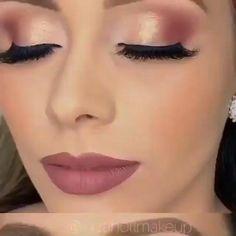 Golden Eye Makeup, Smoky Eye Makeup, Makeup Eye Looks, Dark Skin Makeup, Eye Makeup Art, Glam Makeup, Makeup Geek Eyeshadow, Eyebrow Makeup Tips, Makeup Tutorial Eyeliner