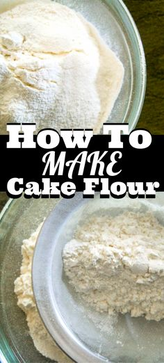 Now you can make your own cake flour at home without having to buy it at the store. Always have this easy recipe on hand so you never run out in the middle of making a cake! Köstliche Desserts, Homemade Desserts, Homemade Cakes, Delicious Desserts, Cakes To Make, How To Make Cake, Cupcake Recipes, Baking Recipes, Cupcake Cakes