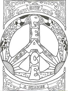 Psychedelic Paz Coloring Pages Paz y páginas para colorear de amor Make your world more colorful with free printable coloring pages from italks. Our free coloring pages for adults and kids. Love Coloring Pages, Printable Coloring Pages, Coloring Books, Plotter Silhouette Portrait, Peace Pictures, Peace Sign Art, Peace Signs, Peace Sign Drawing, Free Adult Coloring