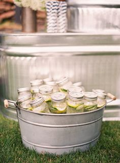 Metal pails come in handy for a million things but we love them as handy coolers