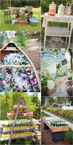 drink station decoration ideas for outdoor wedding ideas #weddingreception #weddingideas #outdoorweddings #backyardwedding #weddingdecoration