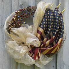 Cradle flags within your wreath!  Get the materials you need to get started with this project at Old Time Pottery today!   http://www.oldtimepottery.com/