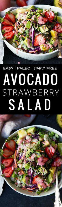 Paleo Strawberry Avocado Salad recipe. EASY PALEO…