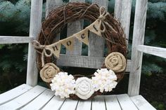 Christmas Vine Wreath/Burlap and Felt by LizzyDesigns on Etsy, $45.00
