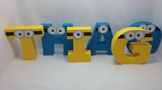 Minion Letters Minion Birthday Party Minion Baby Shower Monsters Birthday Minion…
